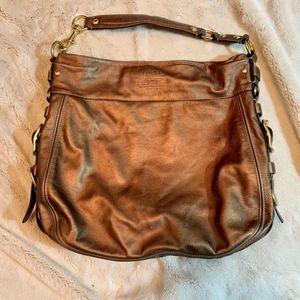 Extra Large Coach Carley Gold handbag